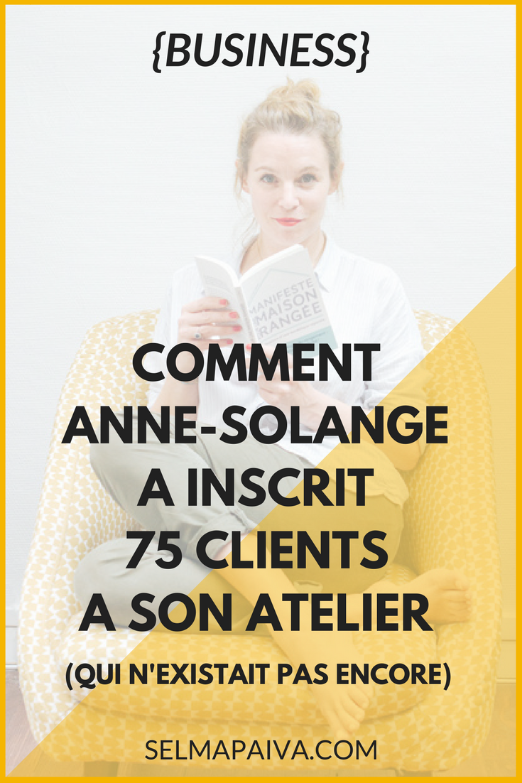 Comment construire des séquences de mails pour vendre ses formations en ligne ? Voila comment Anne-Solange Tardy a eu 75 clients pour un produit qui n'existait pas encore - un bel exemple de newsletter (et des conseils) pour bloggueurs et entrepreneurs en ligne !