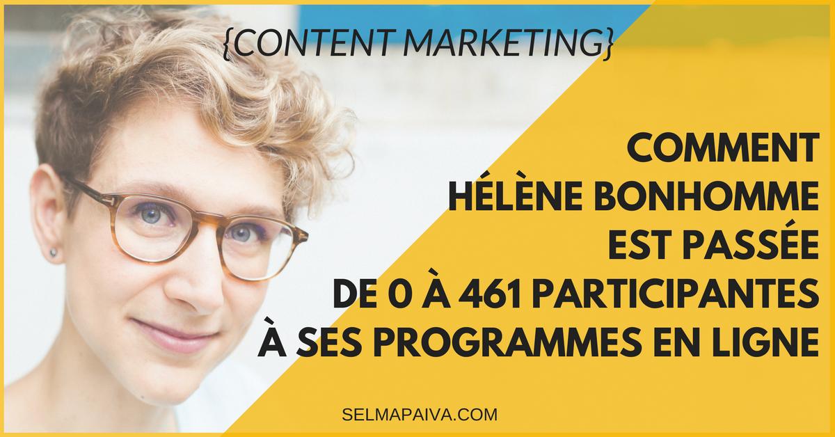 Comment Hélène Bonhomme est passée de 0 à 461 participantes à ses programmes en ligne