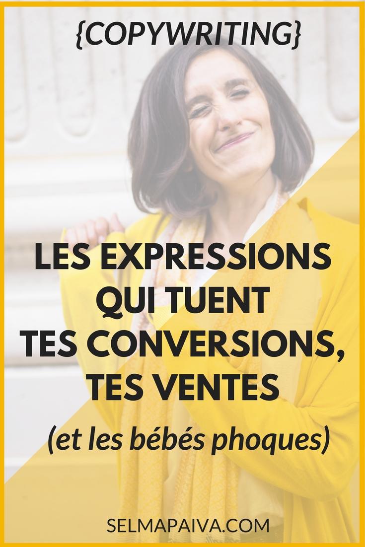 Copywriting : les 5 expressions qui tuent les conversions, les ventes (et les bébés phoques)